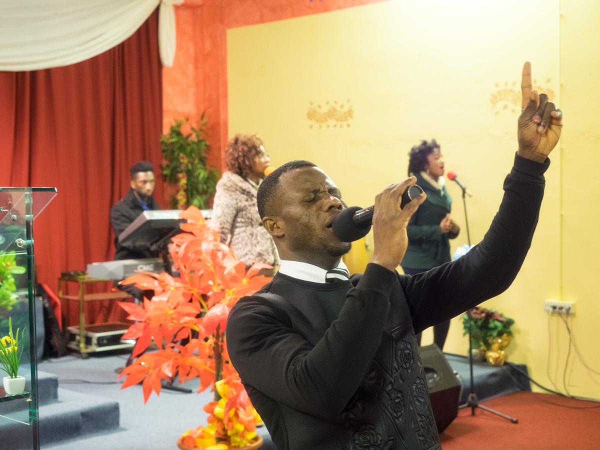 Stephen Opoku singing