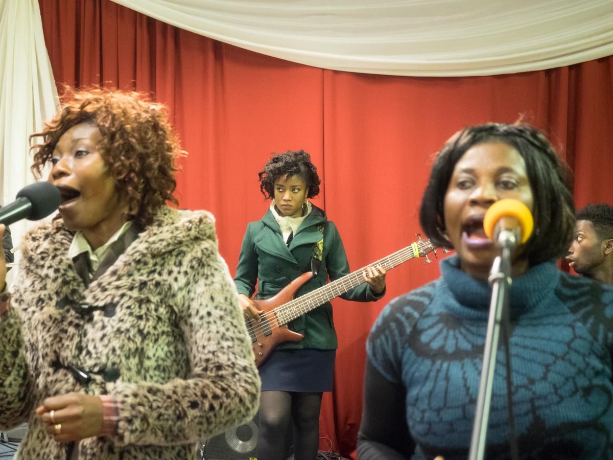 Anna Opoku on the left, Nina Nkansah in the center and Rose Boadu