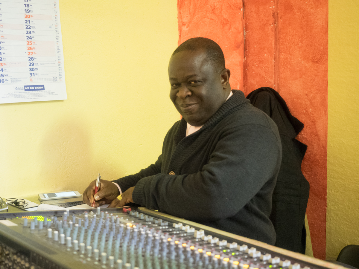 Francis Asare Kwabena is also the sound engineer