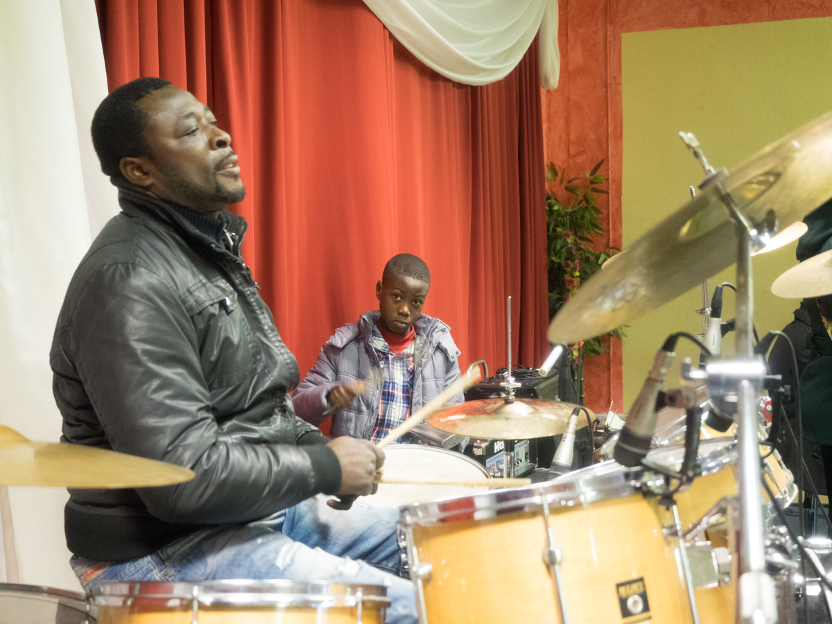 Amonor Charles is the senior drummer