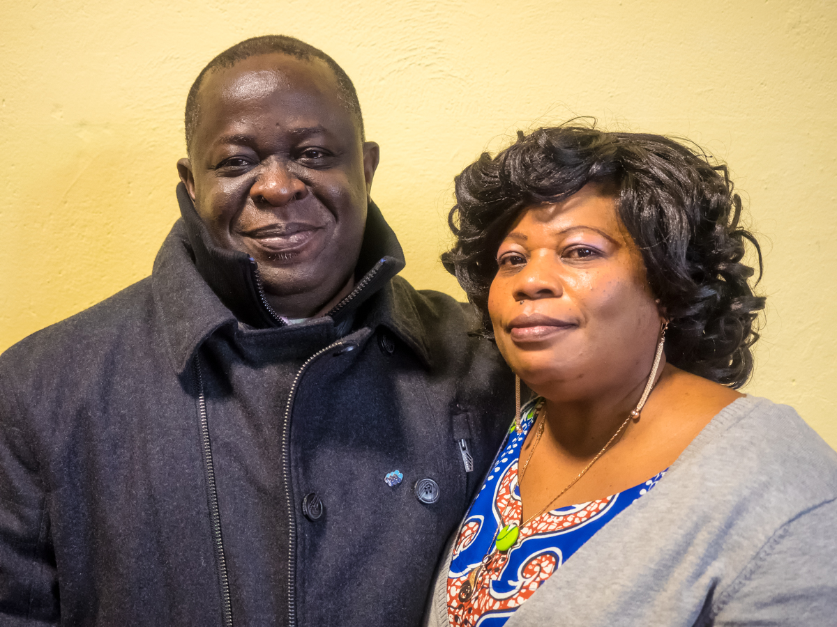 Francis Asare Kwabena and his wife Evelin Asare